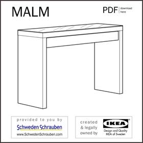 MALM Anleitung manual IKEA Schminktisch Frisiertisch