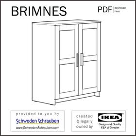 BRIMNES Anleitung manual IKEA Schrank Kleiderschrank