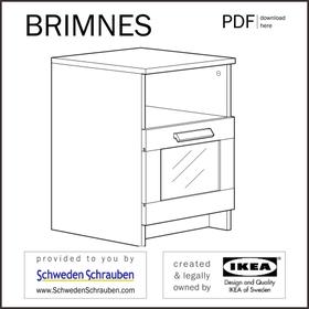 BRIMNES Anleitung manual IKEA Tisch