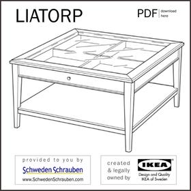 LIATORP Anleitung manual IKEA Couchtisch