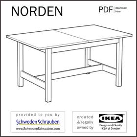 NORDEN Anleitung manual IKEA Tisch