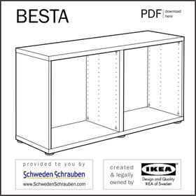 BESTA Anleitung manual IKEA Korpus Sideboard