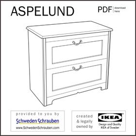 ASPELUND Anleitung manual IKEA Kommode