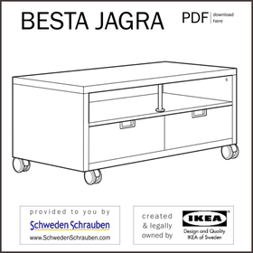 BESTA JAGRA Anleitung manual IKEA TV Bank