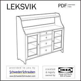 LEKSVIK Anleitung manual IKEA Sideboard Anrichte Kommode
