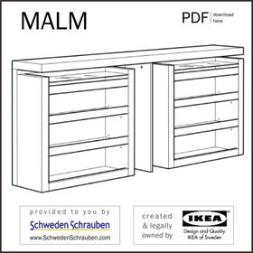MALM Anleitung manual IKEA Bett Kopfteil Ablage