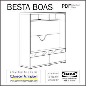 BESTA BOAS Anleitung manual IKEA TV Regal