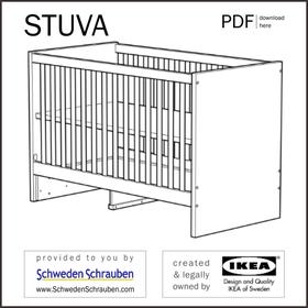 STUVA Anleitung manual IKEA Kinderbett Babybett