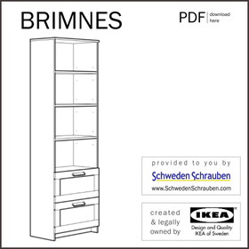 BRIMNES Anleitung manual IKEA Regal