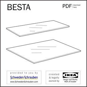 BESTA Anleitung manual IKEA Boden