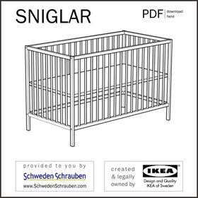 SNIGLAR Anleitung manual IKEA Babybett Kinderbett
