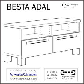 BESTA ADAL Anleitung manual IKEA TV Bank
