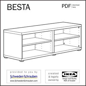 BESTA Anleitung manual IKEA TV Bank