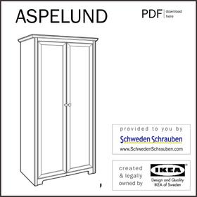 SPELUND Anleitung manual IKEA Kleiderschrank