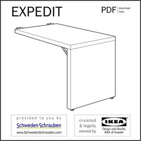 EXPEDIT Anleitung manual IKEA Schreibtisch