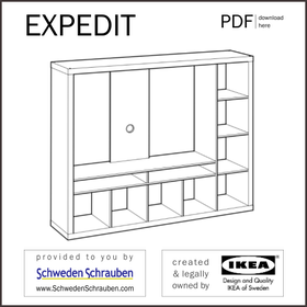 EXPEDIT Anleitung manual IKEA TV Regal