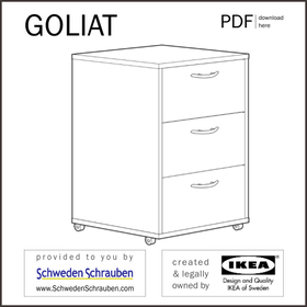 GOLIAT Anleitung manual IKEA Schubladenelement Rollcontainer