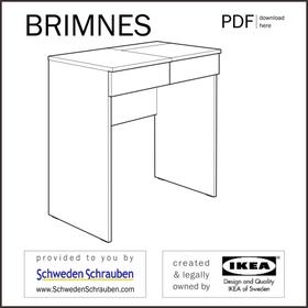 BRINES Anleitung manual IKEA Frisiertisch