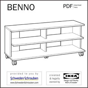 BENNO Anleitung manual IKEA TV Bank