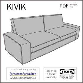 KIVIK Anleitung manual IKEA Sofa schlaf bett