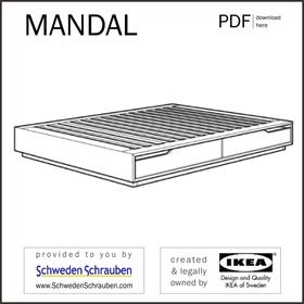 MANDAL Anleitung manual IKEA Bettgestell