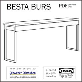 BESTA BURS Anleitung manual IKEA Schreibtisch