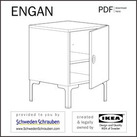 ENGAN Anleitung manual IKEA Ablagetisch