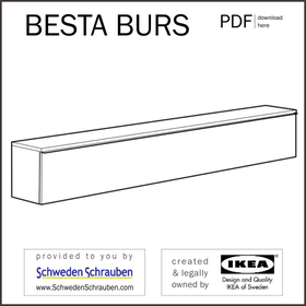 BESTA BURS Anleitung manual IKEA Wandregal