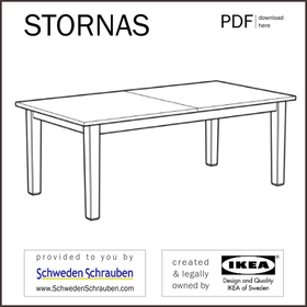 STORNAES Anleitung manual IKEA Tisch