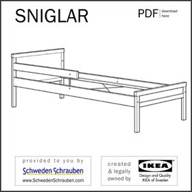 SNIGLAR Anleitung manual IKEA Kinderbett