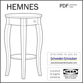 HEMNES Anleitung manual IKEA Beistelltisch Ablagetisch Nachttisch
