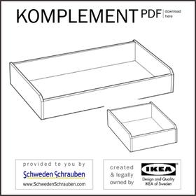 KOMPLEMENT Anleitung manual IKEA Schublade