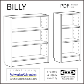 BILLY Anleitung manual IKEA Regal 106