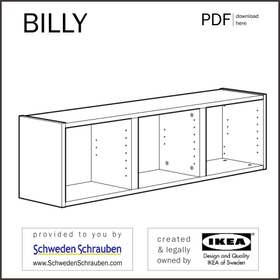 BILLY Anleitung manual IKEA Wandregal