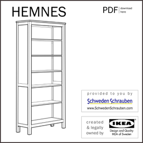HEMNES Anleitung manual IKEA Regal