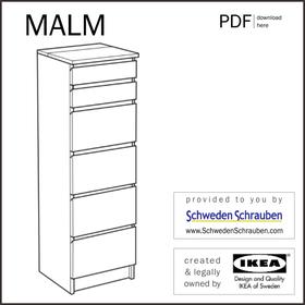 MALM Anleitung manual IKEA Kommode