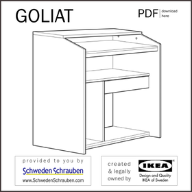 GOLIAT Anleitung manual IKEA Computertisch