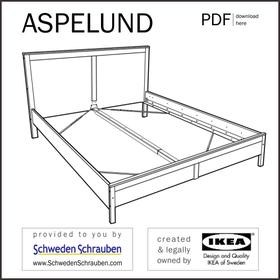 ASPELUND Anleitung manual IKEA Bettgestell