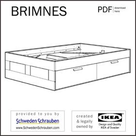 BRIMNES Anleitung manual IKEA Bettgestell