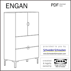 ENGAN Anleitung manual IKEA Kommode