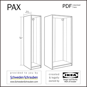 PAX Anleitung manual IKEA Schrank Korpus