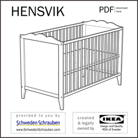 HENSVIK Anleitung manual IKEA Kinderbett Babybett