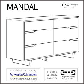 MANDAL Anleitung manual IKEA Kommode