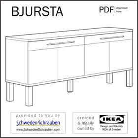 BJURSTA Anleitung manual IKEA Sideboard