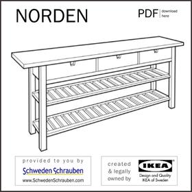 NORDEN Anleitung manual IKEA Ablagetisch Anrichte Sideboard