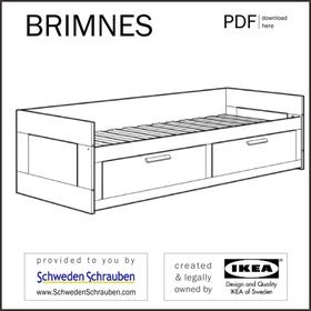 BRIMNES Anleitung manual IKEA Kinderbett