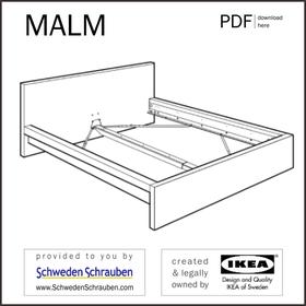 MALM Anleitung manual IKEA Bettgestell
