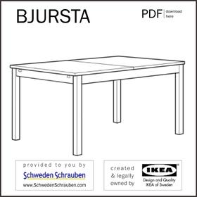 BJURSTA Anleitung manual IKEA Tisch