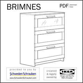 BRIMNES Anleitung manual IKEA Kommode