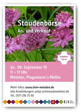 Flyer, Handzettel Tag der offenen Gärten Metelen